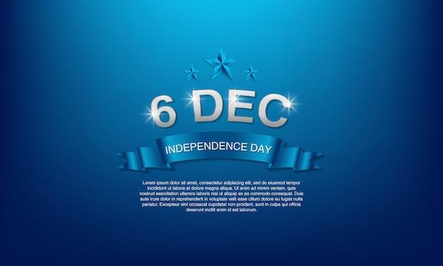 Festa dell'indipendenza della finlandia il 6 dicembre. Vettore Premium