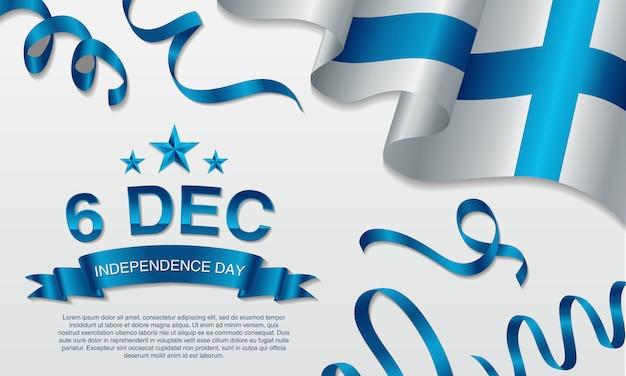 Festa dell'indipendenza finlandese del 6 dicembre. Vettore Premium