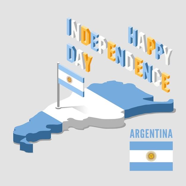 Festa dell'indipendenza in argentina Vettore Premium