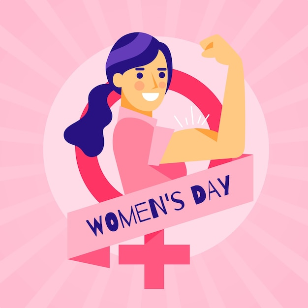 Festa della donna in design piatto Vettore gratuito