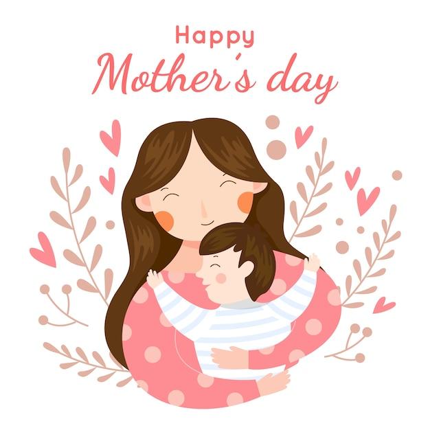 Festa della mamma in stile piatto Vettore gratuito
