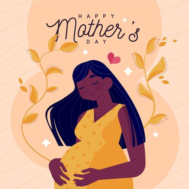 Festa della mamma stile illustrazione Vettore gratuito