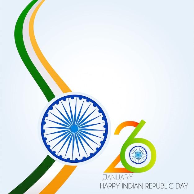 Festa della repubblica dell'india. 26 gennaio sfondo indiano Vettore Premium