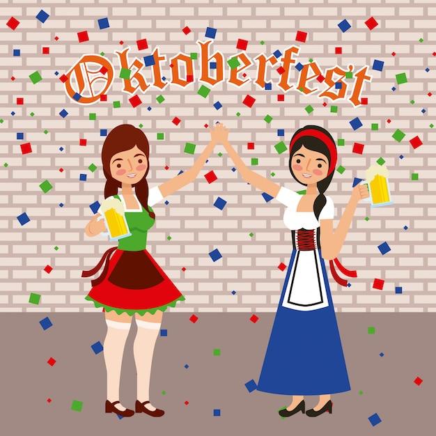 Festa di celebrazione dell'oktoberfest Vettore gratuito
