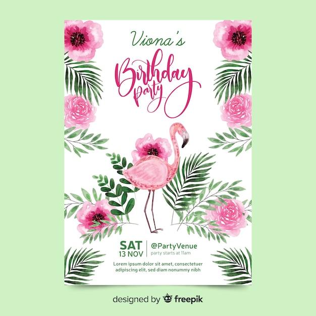 Festa di compleanno con scritte Vettore gratuito