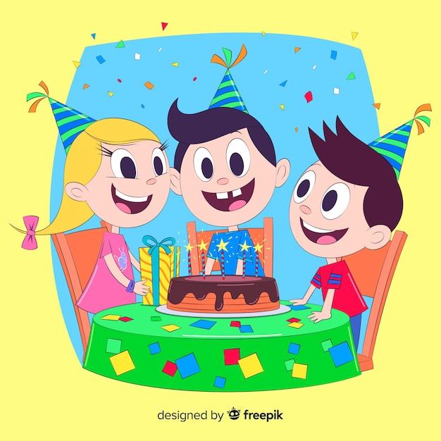 Festa di compleanno Vettore gratuito