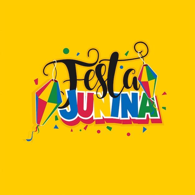 Festa junina illustration background Vettore Premium