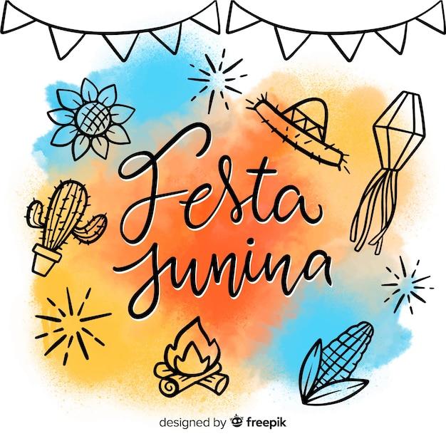 Festa junina Vettore gratuito
