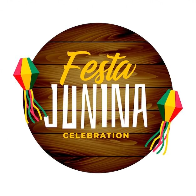 Festa tradizionale junina Vettore gratuito