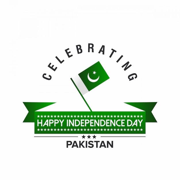 Festeggia il giorno dell'indipendenza del pakistan Vettore Premium