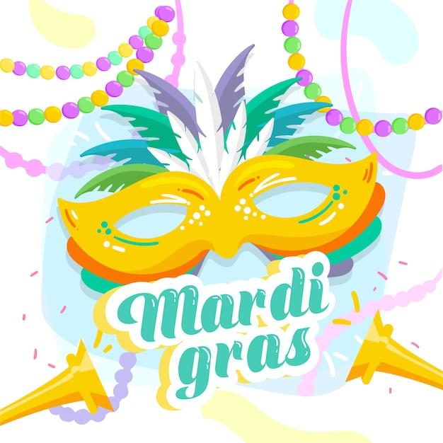 Festival del martedì grasso colorato Vettore gratuito