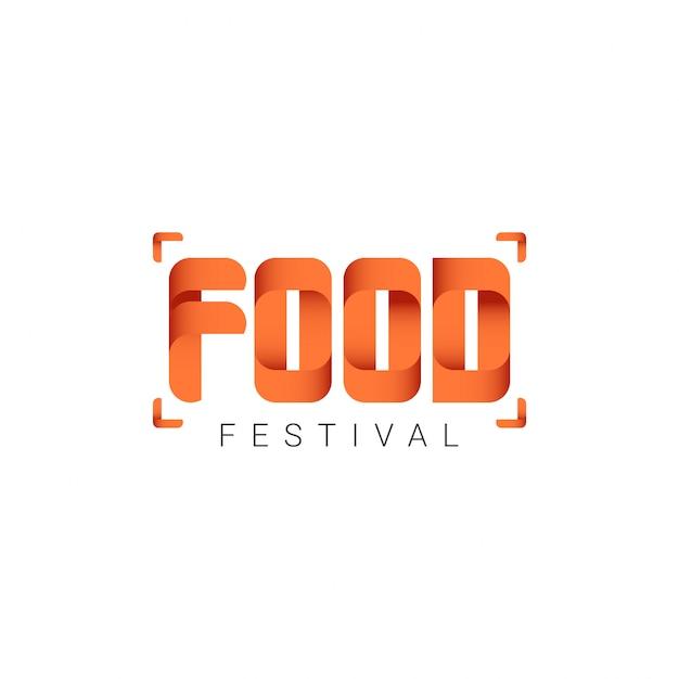 Festival dell'alimento logo vector template design illustration Vettore Premium