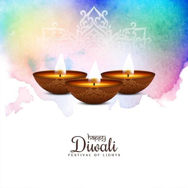 Festival felice astratto di diwali variopinto Vettore gratuito