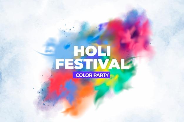 Festival holi indù esplosione realistica Vettore gratuito