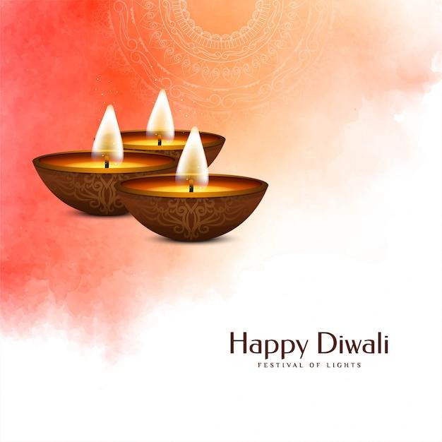 Festival indiano felice diwali morbido colorato Vettore gratuito