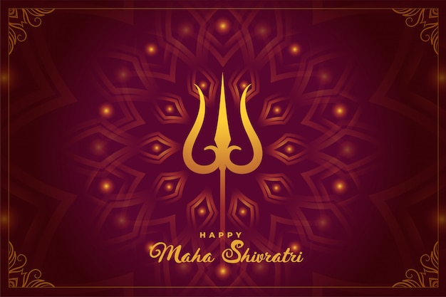 Festival indù indiano del fondo di maha shivratri Vettore gratuito