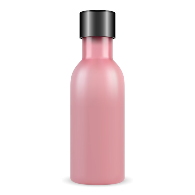 Fiala cosmetica, prodotto di essenza di collagene, flacone di vetro Vettore Premium