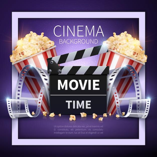 Film online e background dell'industria dell'intrattenimento Vettore Premium