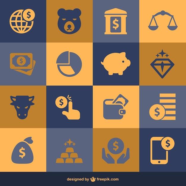Finanza e denaro elementi piani Vettore gratuito