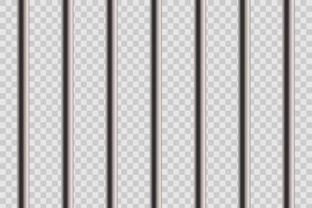 Finestra di barre di prigione dettagliate realistiche in metallo. Vettore Premium