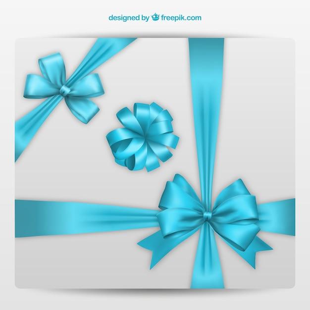 Fiocchi decorativi in colori blu Vettore gratuito