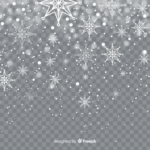 Fiocchi di neve sfondo trasparente