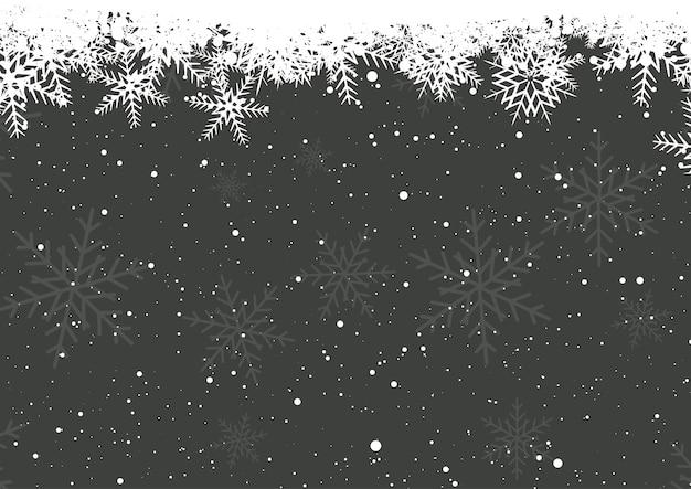 Fiocchi di neve invernali Vettore gratuito