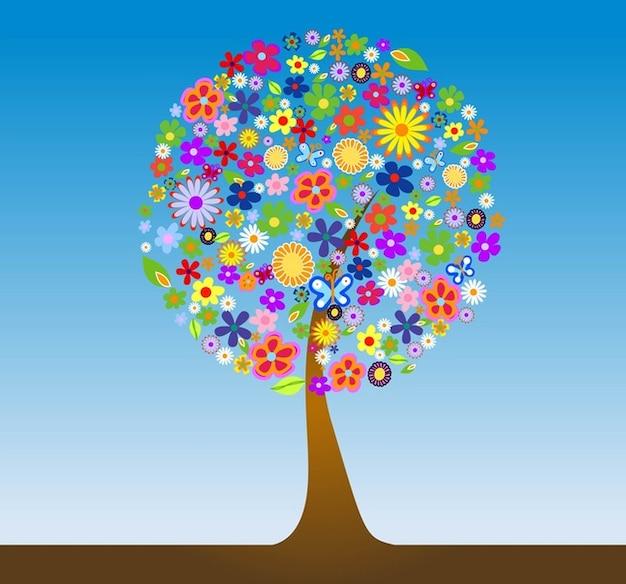 Fiore albero vettore Vettore gratuito