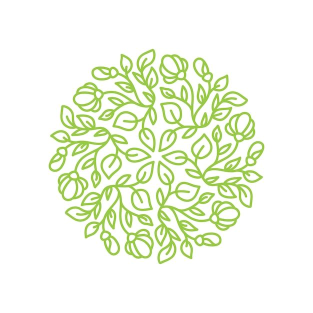 Fiore logo Vettore Premium
