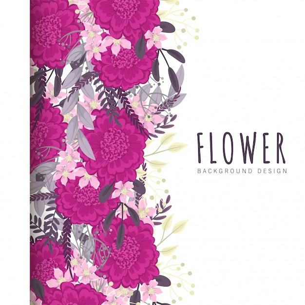 Fiore rosa caldo Vettore gratuito