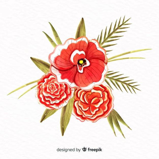 Fiore stile acquerello Vettore gratuito