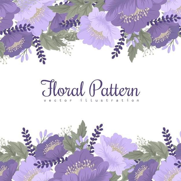 Fiore viola su sfondo bianco Vettore gratuito