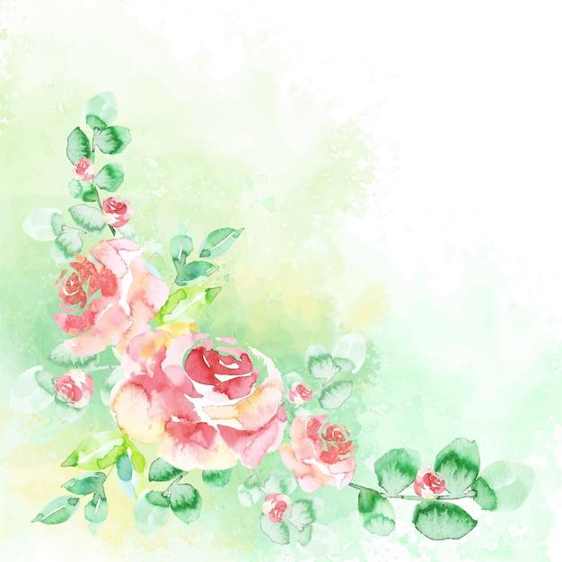 Fiori ad acquerelli in colori pastello Vettore gratuito
