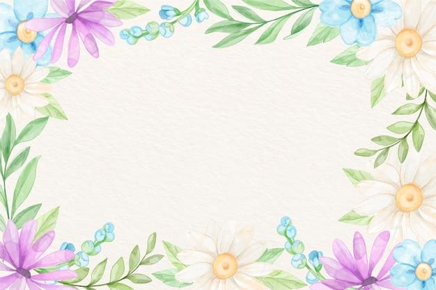 Fiori dell'acquerello del fondo nei colori pastelli Vettore gratuito