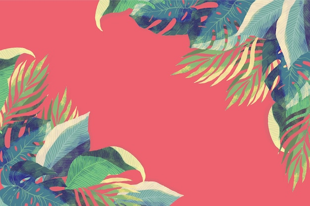 Fiori / foglie tropicali - fondo per lo zoom Vettore gratuito