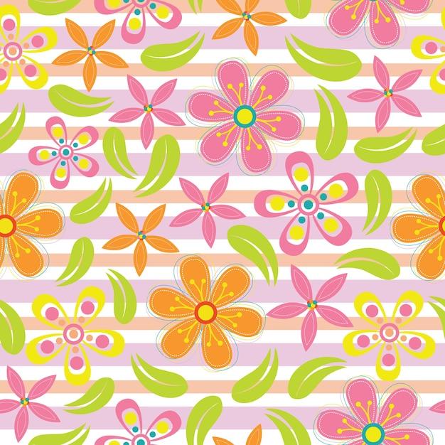 Fiori Rosa E Arancioni Dellannata Fiori Senza Soluzione Di