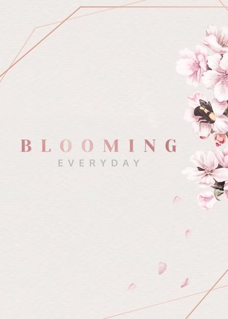 Fiori rosa in fiore Vettore gratuito