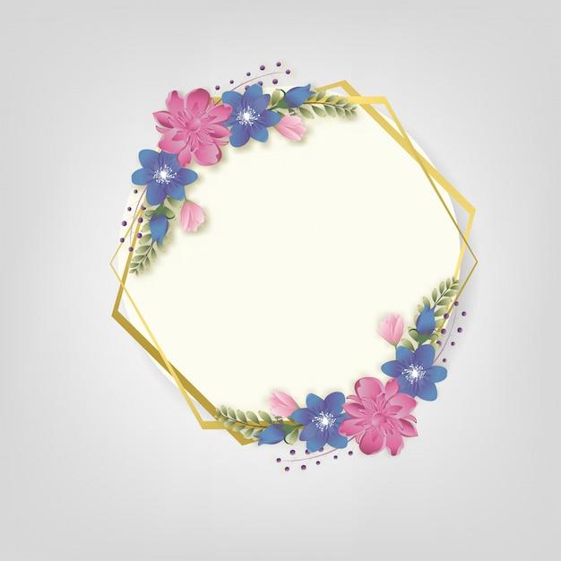 Fiorisce la struttura floreale dei rami di fioritura della primavera Vettore Premium