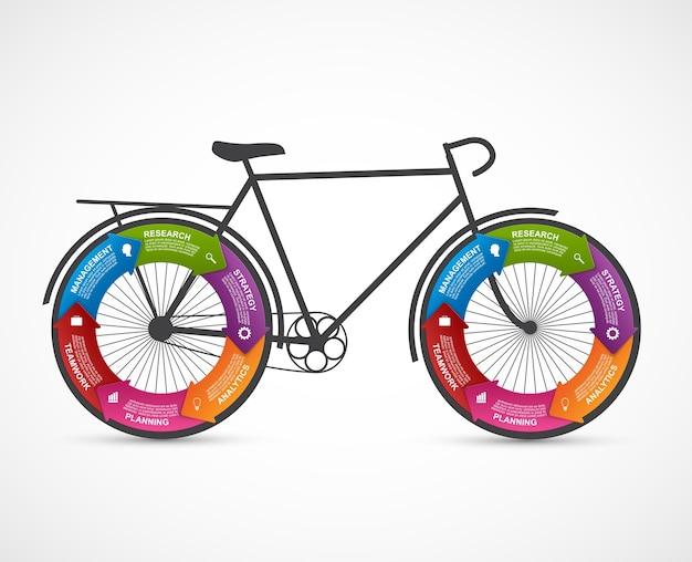 Fitness e sport design infografica elemento. Vettore Premium