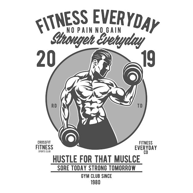 Fitness tutti i giorni Vettore Premium