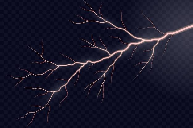 Flash lampo elettrico lampo. Vettore Premium