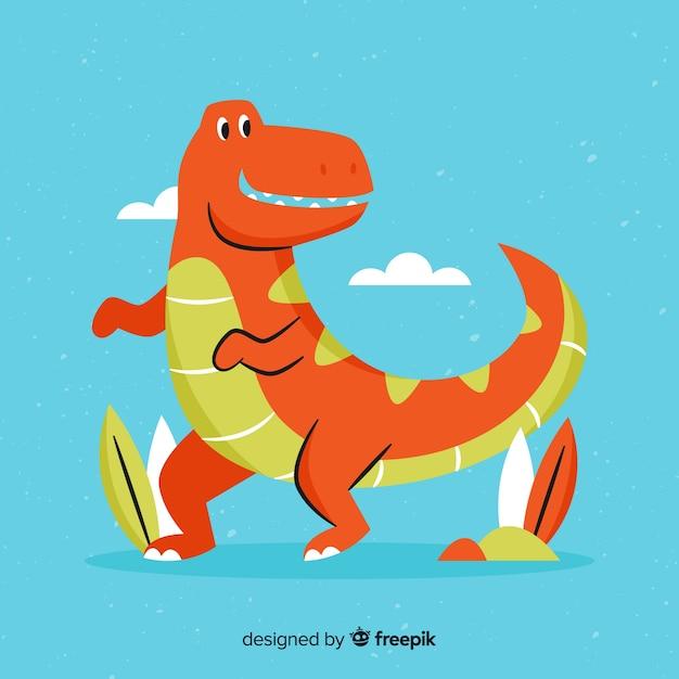 Flat t rex background Vettore gratuito