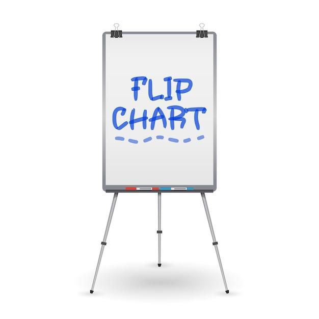 Flip chart Vettore Premium