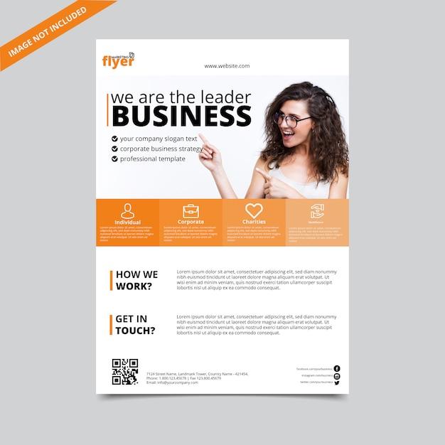 Flyer aziendale cool Vettore Premium