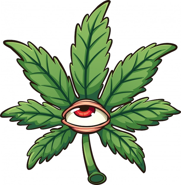 Foglia di marijuana Vettore Premium