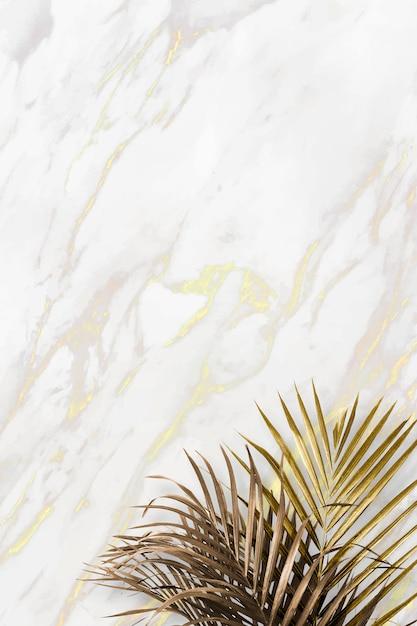 Foglie tropicali dorate Vettore Premium