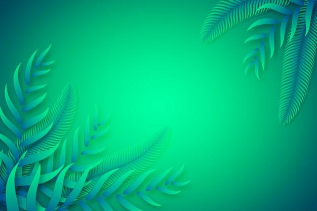 Foglie tropicali verdi copiano il fondo dello spazio Vettore gratuito