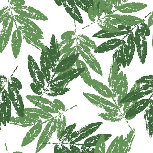 Foglie verdi naturali Vettore Premium
