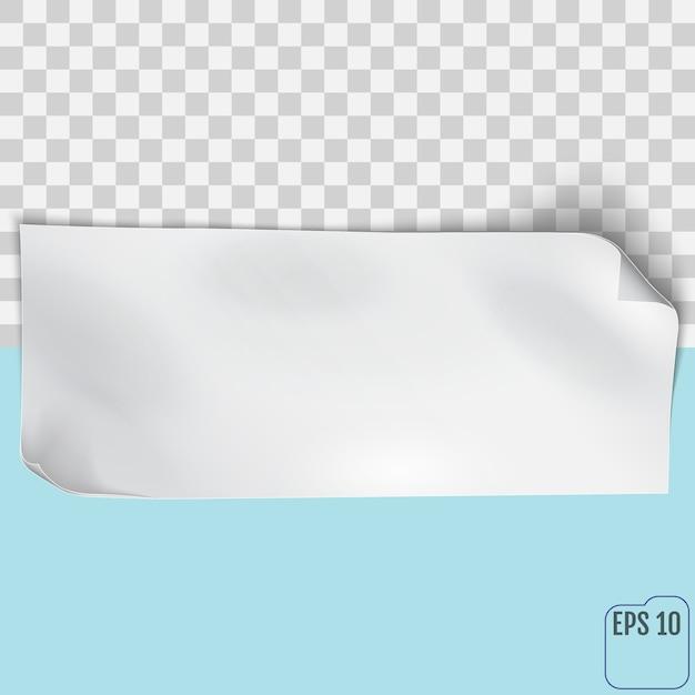 Foglio di carta vuoto vector eps10 Vettore Premium