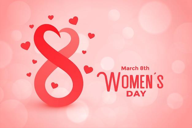 Fondo adorabile del giorno delle donne felici di stile di bokeh Vettore gratuito